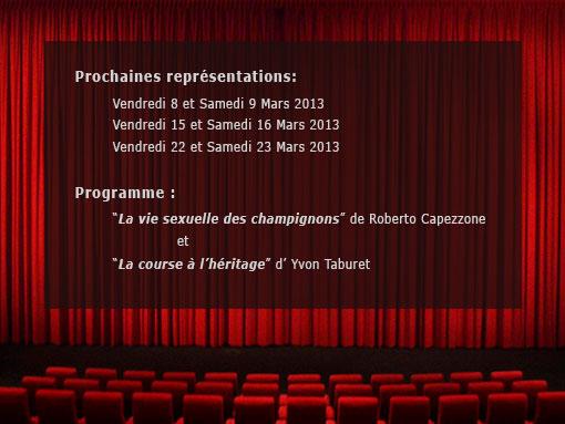 Programme théatre 2013