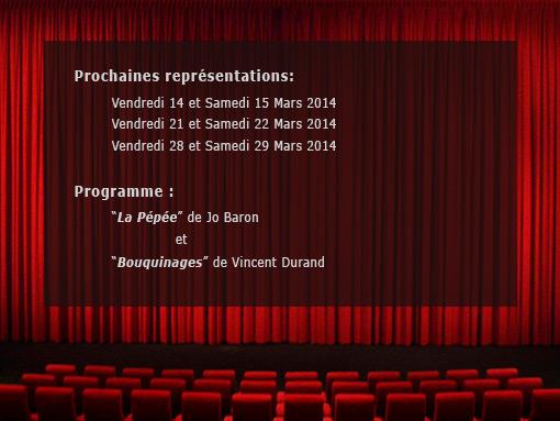 Programme théatre 2014