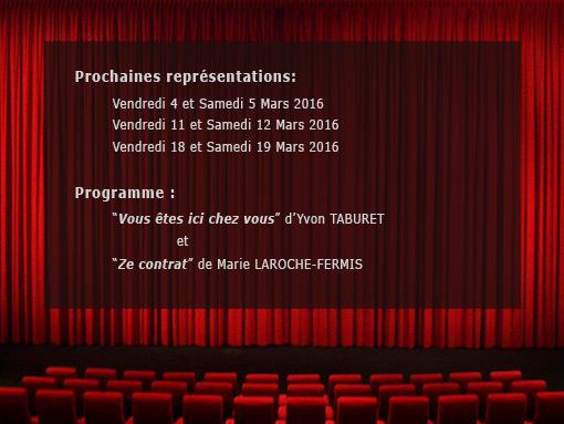 Programme théatre 2016