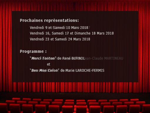 Programme théatre 2018