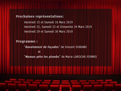 Programme théatre 2019