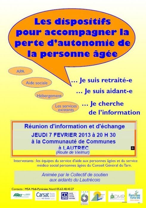 Réunion -aidants- 7 février 2013